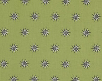 """End of Bolt 1 yard 26.5"""" of Fox Field Vintage Stars Shade by Tula PInk for Free Spirit"""