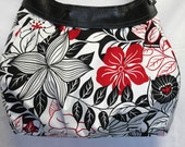 CLEARANCE Handmade Thirty One City Purse Skirt in Black White Red