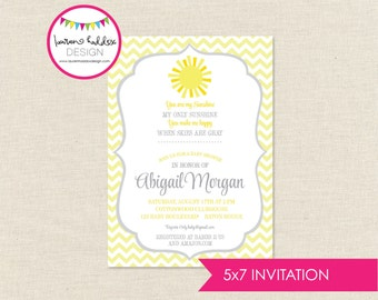 DIY, You are my Sunshine Baby Shower INVITATION ONLY