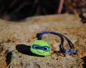 Blue Masked Turtle - Hearing Aid Cord or Cochlear Implant Cord