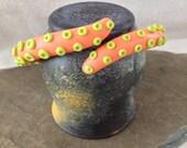 Krakenbangle - Chthulu Kraken Octopus Tentacle Bangle Bracelet -  Nectarine (Orange) / Lime Punch (Yellow Green)