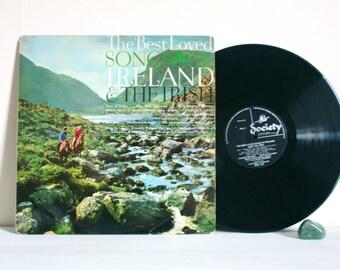 CLOSING DOWN Sale - 50% Off Vintage 1964 Best Loved Songs of Ireland Vinyl LP