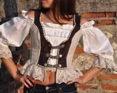 Vintage Dirndl corset , special model - German Women OKTOBERFEST Waitress Hostess DIRNDL