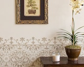 Petite Mughal Moroccan Border Stencil Furniture and Craft Stencil for DIY Decor