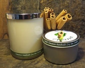 Sweet and Spicy Cinnamon Handmade Soy Wax Candle - (Essential OIl) - Flat Rate Shipping Now Available!
