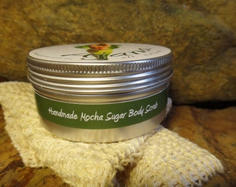 Mocha Madness Handmade Fresh Sugar Body Scrub - 200gm Tin - Flat Rate Shipping Now Available!