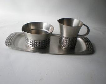 Mastad Norway Pewter Cream and Sugar Bowl with Tray