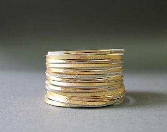 Multi Strand Soft Leather Bracelet(Gold)