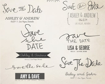 INSTANT DOWNLOAD - Save The Date Words Overlays vol.9