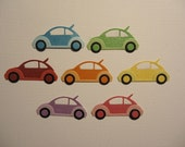 VW Volkswagon Die Cuts x 7 for Scrapbooking Cards and Paper Crafts Cars Transport Bug Beetle Car Embellishment