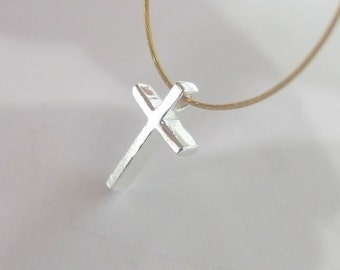 4 of 925 Sterling Silver Cross Charms 7.5x12mm.Polish Finished  :th1972