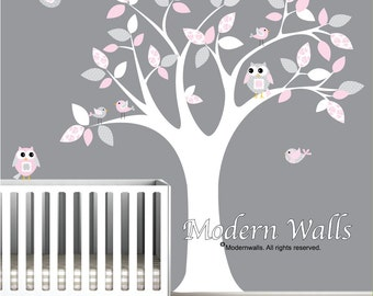 Children Wall Decal Girls Nursery Wall Stickers Owl Birds wall decal-e72