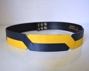 70s Jaeger Colorblocked Crossover Belt 76cm/30""