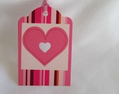 Up Cycled Pretty in Pink Gift Tags... Set of 4