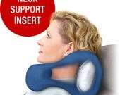 50% Off, Navy Blue Medium Chiropractic Travel Neck Pillow With Strong Side Support And Firm Neck Support