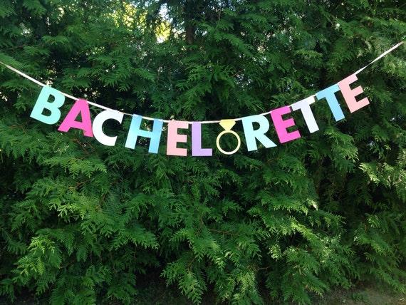 BACHELORETTE BANNER- pink, gold, mint. Bachelorette party decorations.