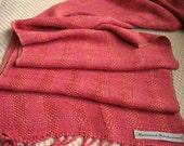 Bright Pink Silk Handwoven Scarf