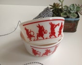 Hazel Atlas Dancing Pigs Small Bowl