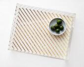 GOLD STRIPE acrylic tray faux gold stripe