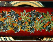COLORADO HIGH Design • A Beautifully Hand Tooled, Hand Crafted Leather Guitar Strap