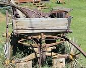 Rustic wagon Gold Hill Colorado mountain strong