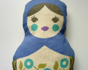 Indigo Matryoshka Doll Sachet. Choose Lavender Pine or Rose Scented.