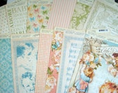 Little Darlings 12 x 12 Graphic45 Cardstock Collection, Graphic 45 Scrapbook Paper, Rare Little Darlings Collection of 16 Baby Papers