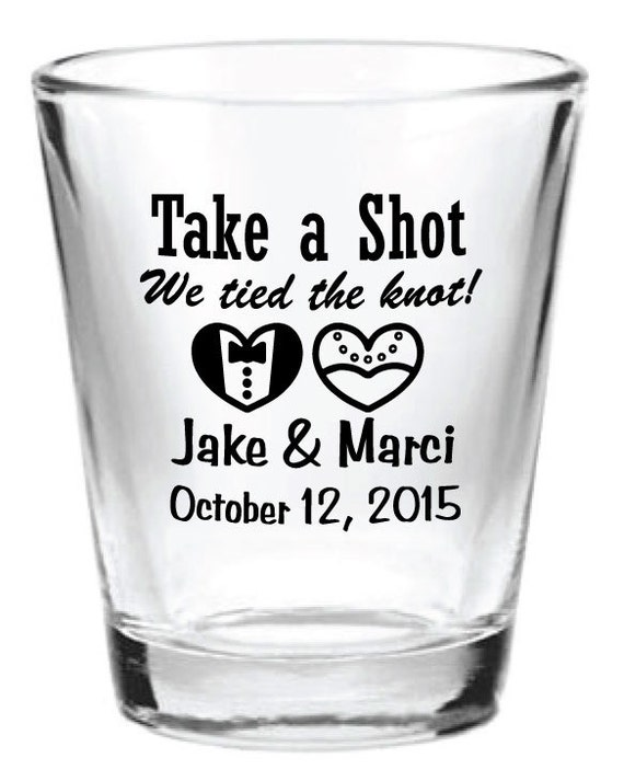 new personalized wedding favors glass shot glasses 2015 custom