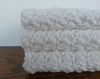 Crochet Dish Cloth/Wash Cloth-Eco Friendly-Shower Gifts-House Warming Gifts-Cotton Wash Cloth-Colored Dish Cloth-Gift Basket Ideas