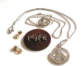 Take 20% Off Five Retro PEACE SIGN Necklaces Jewelry Collection