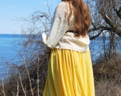 Peasant Skirt in many colors, gauze under skirt for Costume or Historical Reenactment - long renaissance skirt with elastic waistband