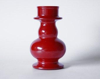Vintage Italian Orange Opaline Candle Holder/ Vase - Stelvia 60s