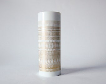 Mid-Century Golden Decor Vase by Hans -Theo Baumann for Rosenthal 60s