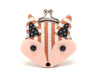Little stripey red fox mini wallet