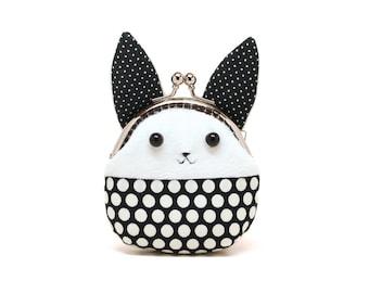 Little white rabbit mini coin purse