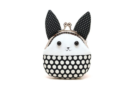 Little white rabbit mini coin purse
