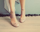 CECILE - Pale Pink FREE SHIPPING Handmade Leather Shoes with Summer Sale
