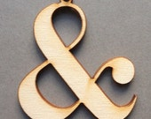 Didone ampersand - Typographic Ornament laser cut wood typography graphic design decoration gift
