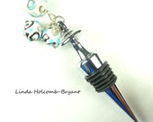Wine Bottle Stopper with Lampwork Beads