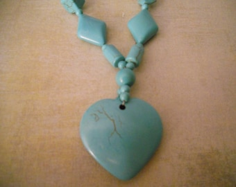 Turquoise Heart Pendant Necklace for the Unique Gift