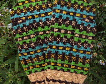 Finely Knitted Estonian Mittens in COLOR - warm and windproof