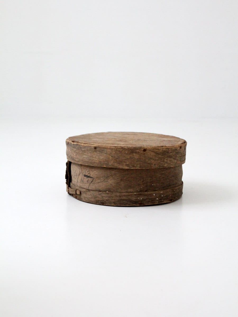 Antique cheese box rustic wood storage box decorative wooden for Vintage wooden storage boxes