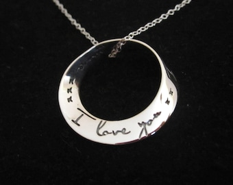 925 Sterling Silver I Love you xx I Love you more pendant + chain necklace, Love, friendship,family necklace