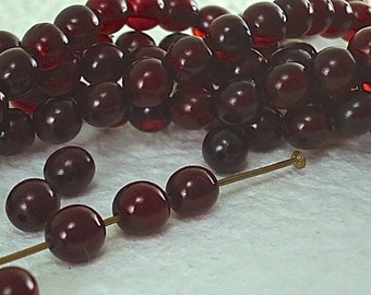 20 Red Horn Beads 6mm Round Red Natural Beads Small Red Beads Genuine Red Dyed Animal Horn beads