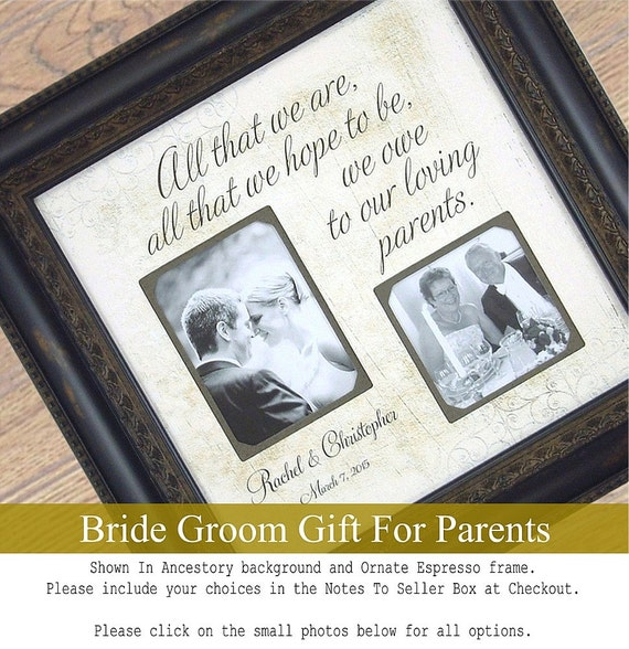 Unique Wedding Gifts For Parents : Parents Wedding Gift Personalized for Parents of the Bride Mom Dad ...