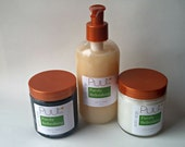Skin Care  - Natural Facial Wash, Charcoal Face Mask, Unscented Sheer Moisturizer - VEGAN Purifying Oily Skin