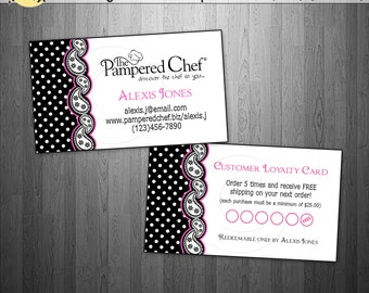 pampered chef consultant or director business cards frequent buyer reward punch card. Black Bedroom Furniture Sets. Home Design Ideas