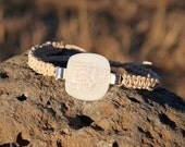 Ripple White Dichroic Hemp Bracelet