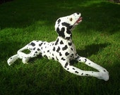 Dalmatian Dog Paper Sculpture