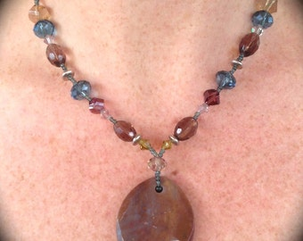 Chunky Agate beaded necklace